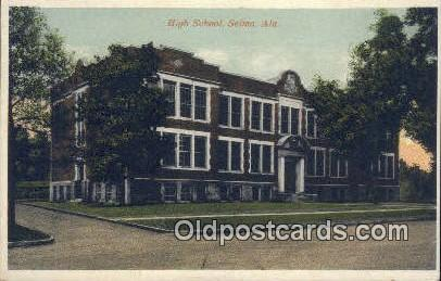 High School, Selma - Alabama AL Postcard