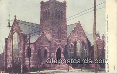 St Mary's on the Highlands - Birmingham, Alabama AL Postcard
