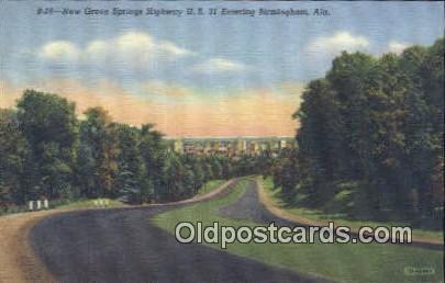 New Green Spring Highway - Birmingham, Alabama AL Postcard