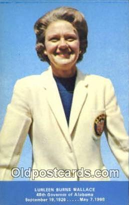 Lurleen Burns Wallace, 48th Governor - Misc, Alabama AL Postcard