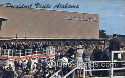 Muscle Shoals, John F Kennedy Visited - Florence, Alabama AL Postcard