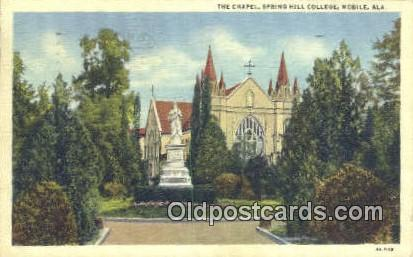 The Chapel, Spring Hill College - Mobile, Alabama AL Postcard