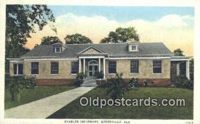 Stabler Imfirmary - Greenville, Alabama AL Postcard