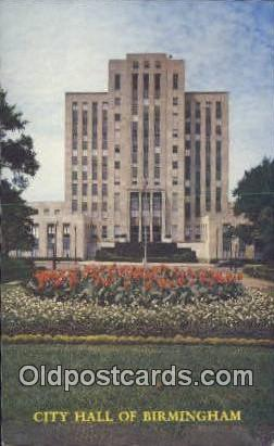 City Hall - Birmingham, Alabama AL Postcard