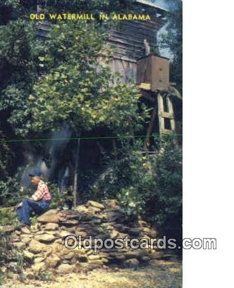 Old Waterfall - Northwestern Alabama Postcards, Alabama AL Postcard
