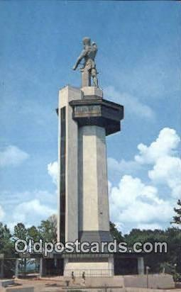 Vulcan, Red Mountain - Birmingham, Alabama AL Postcard