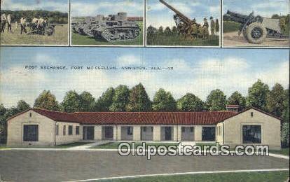 Posst Exchange, Fort McClellan - Anniston, Alabama AL Postcard