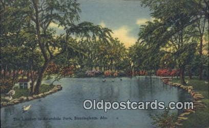Lagoon, Avondale Park - Birmingham, Alabama AL Postcard