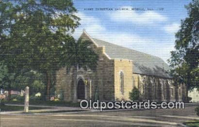 First Christian Church - Mobile, Alabama AL Postcard