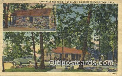 Huntsville New Recreation Center - Alabama AL Postcard