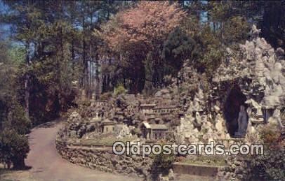 Ave Marie Grotto - Cullman, Alabama AL Postcard