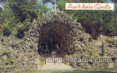 Main Grotto, Ave Maria Grotto - Cullman, Alabama AL Postcard