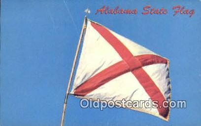 State Flag, AL     ;     State Flag, Alabama Postcard