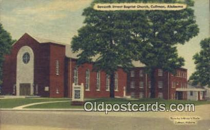 Seventh Street Baptist Church - Cullman, Alabama AL Postcard