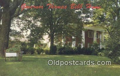 Governor Thomas Bibb Home - Belle Mina, Alabama AL Postcard