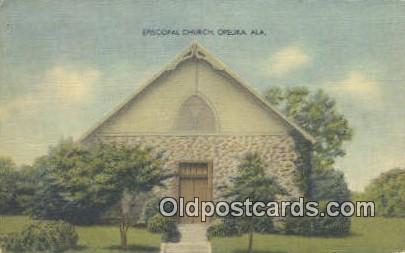 Episcopal Church - Opelika, Alabama AL Postcard