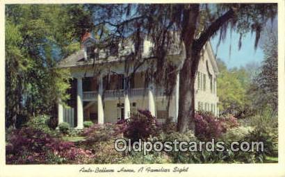 Ante-Bellum Home - Misc, Alabama AL Postcard