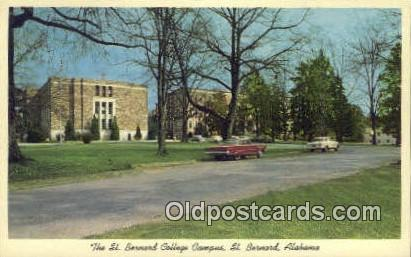 St Bernard College - Alabama AL Postcard