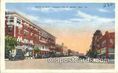 Broad Street - Selma, Alabama AL Postcard