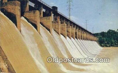 Lay Dam, Coosa River - Clanton, Alabama AL Postcard