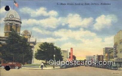 Main Street - Dothan, Alabama AL Postcard