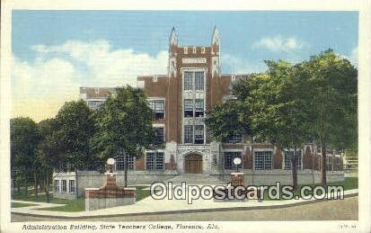 Admin Building, State Teachers College - Florence, Alabama AL Postcard