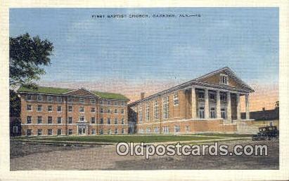 First Baptist Church - Gadsden, Alabama AL Postcard