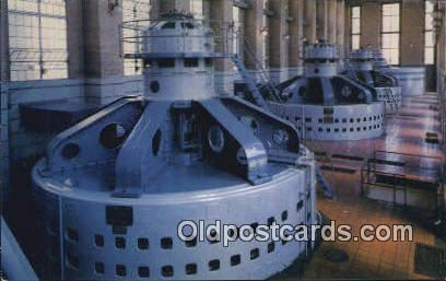 Generator Room, Alabama Poer Co - Tallassee Postcard