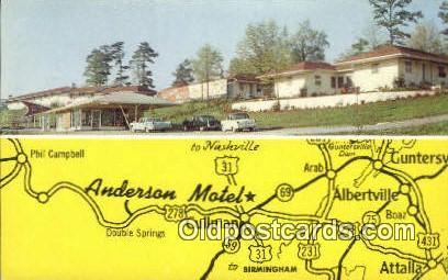 Anderson Motel - Cullman, Alabama AL Postcard