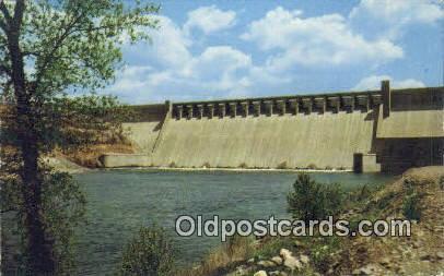 Bull Shoals Dam, AL     ;     Bull Shoals Dam, Alabama Postcard