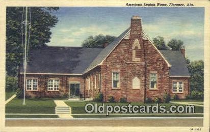 American Legion Home - Florence, Alabama AL Postcard