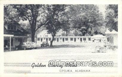 Golden Cherry Motel - Opelika, Alabama AL Postcard
