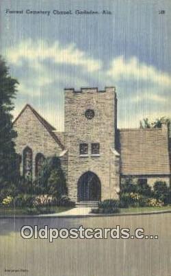 Forrest Cemetery Chapel - Gadsden, Alabama AL Postcard