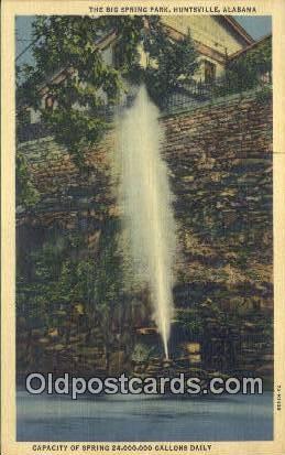Big Spring Park - Huntsville, Alabama AL Postcard