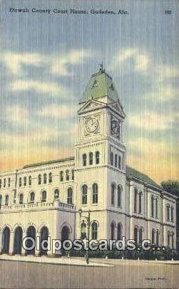 Etowah County Court House - Gadsden, Alabama AL Postcard