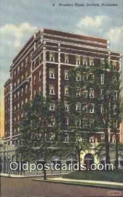 Houston Hotel - Dothan, Alabama AL Postcard