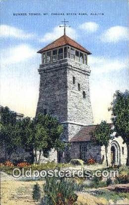 Bunker Tower - Cheaha State Park, Alabama AL Postcard