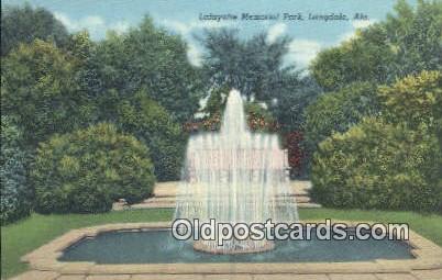 Lafayette Memorial park - Langdale, Alabama AL Postcard