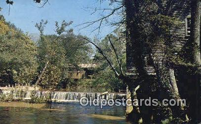Kymulga Mill & Covered Bridge - Alpine, Alabama AL Postcard