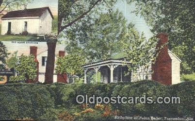 Birthplace of Helen Keller - Tuscumbia, Alabama AL Postcard