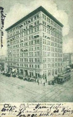 First National Bank - Birmingham, Alabama AL Postcard