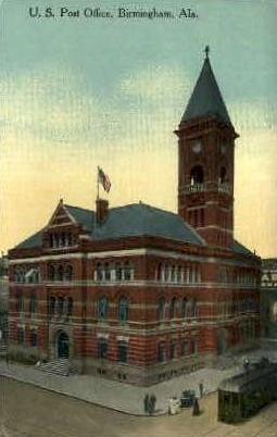 U.S. Post Office - Birmingham, Alabama AL Postcard