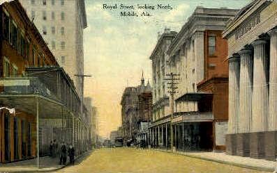 Royal Street - Mobile, Alabama AL Postcard