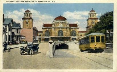 Terminal Station & Subway - Birmingham, Alabama AL Postcard