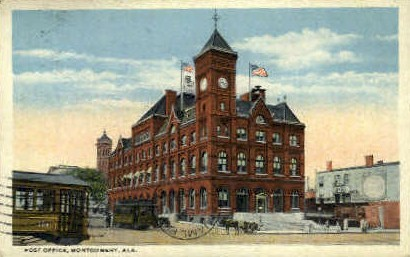 Post Office - Montgomery, Alabama AL Postcard