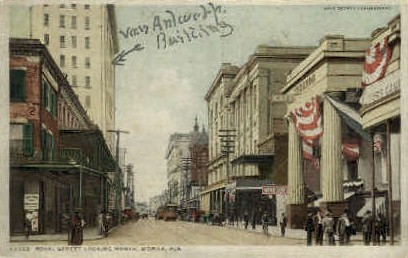 Royal Street - Mobile, Alabama AL Postcard