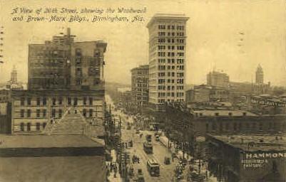 Woodward & Brown-Marx Buildings - Birmingham, Alabama AL Postcard