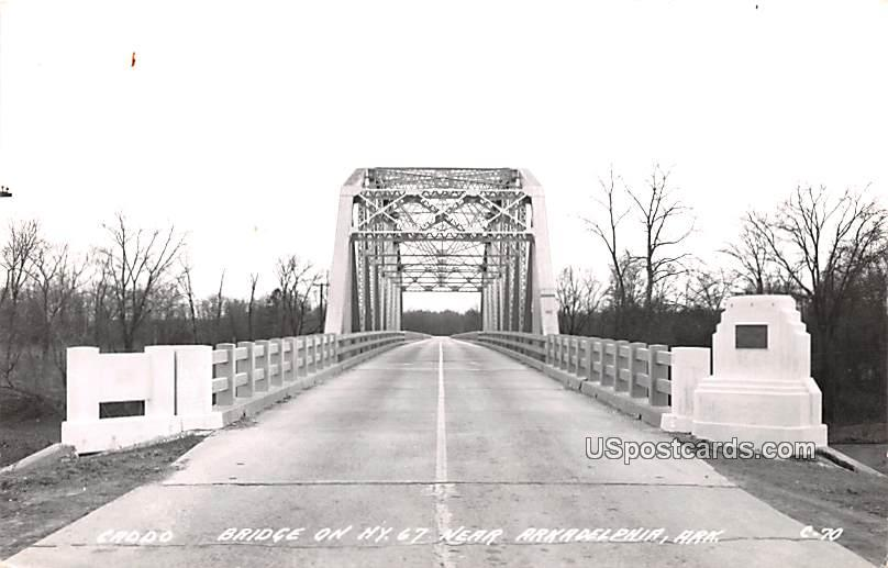Bridge on Highway 67 - Arkadelphia, Arkansas AR Postcard