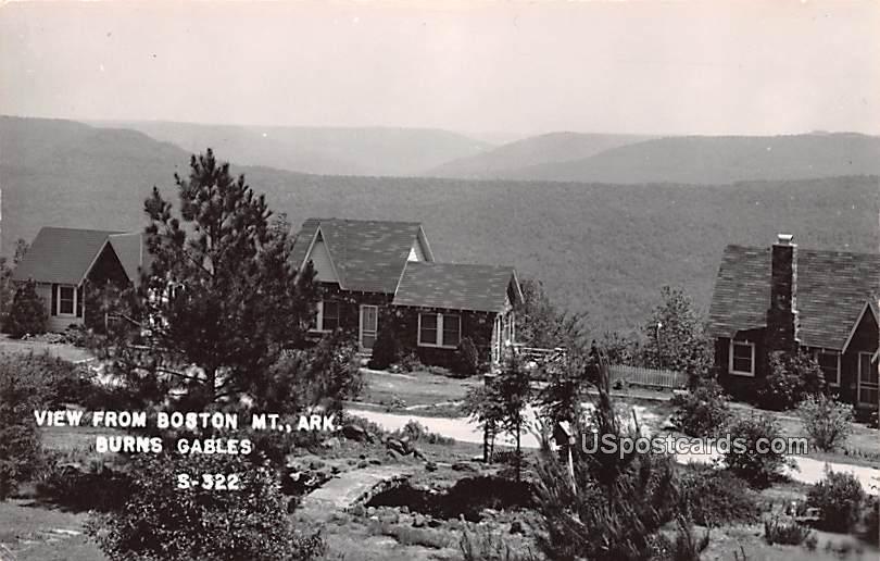 View from Boston Mountain - Burns Gables, Arkansas AR Postcard