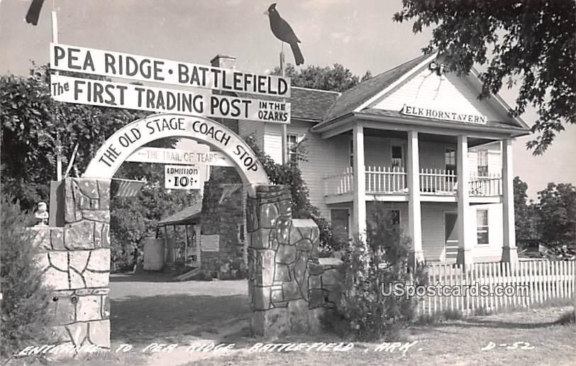 Entrance to Pea Ridge Battlefield - Benton County, Arkansas AR Postcard